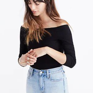 Madewell Ribbed Off-the-Shoulder Bodysuit XS